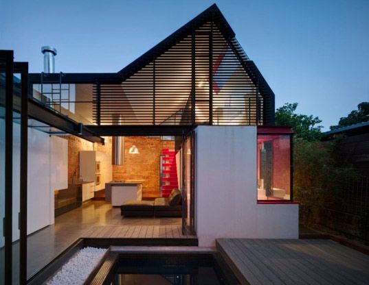 Sydney, AUS, transformation of the traditional brick home and courtyard into a stunning modern home that builds upon the past while making creative use of all the available space.