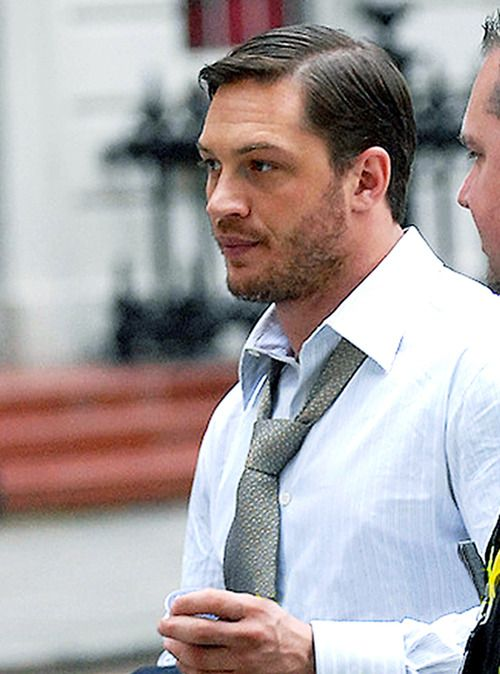 tom hardy because his loose tie and scruff hardy