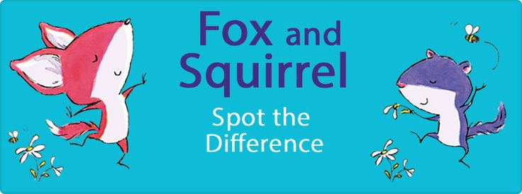 Fox and Squirrel Spot The Difference - Activity