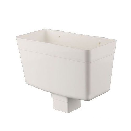 Plastic Guttering Square Downpipe Hopper Head 65mm - White