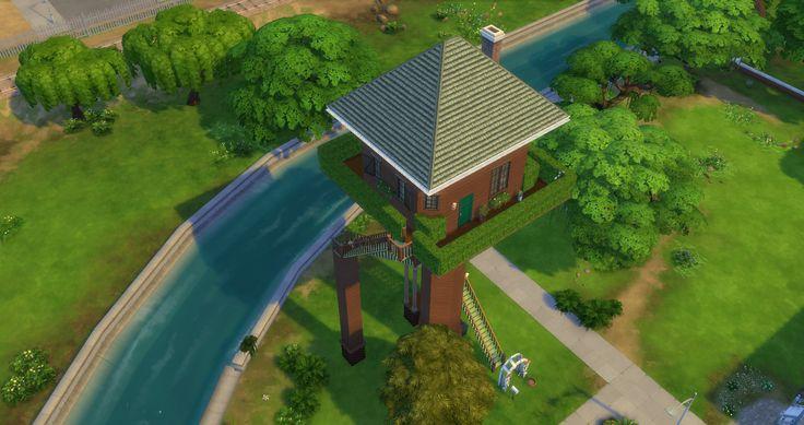 ツリーハウス風の家(Sims4)