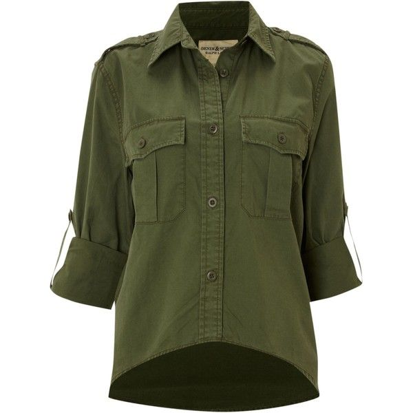 Denim and Supply Ralph Lauren Short at the front work shirt via Polyvore