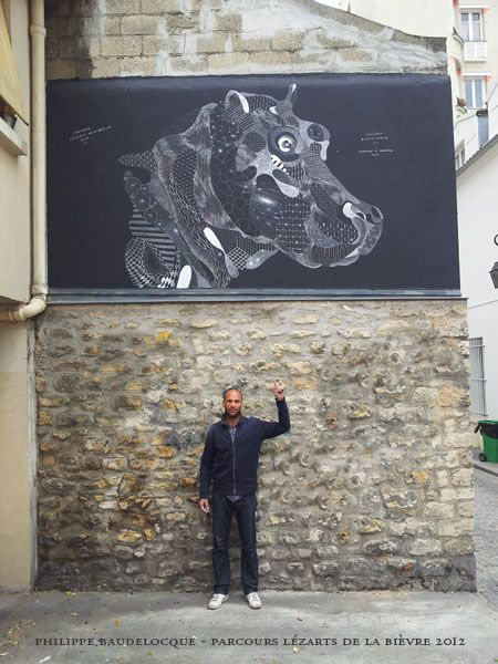 Beautiful application of outdoor media. work by PHILIPPE BAUDELOCQUE