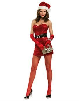 Christmas Collection Sexy Miss 5th Avenue Santa Costume Small 2-6  Leave out fifth road santa means that you can play a gorgeous santa with a strapless Pink sequin mini Get dressed matching hat and santa-go well with-impressed belt. Different equipment now not integrated.Small suits Get dressed Dimension 2-6 suits 33 to 35 inch bust and 25 to 26 inch waist. Topic:Christmas Colour:Pink Dimension:S Taste:Get dressed Please word:If non product issues the client wish to pay for the go back…