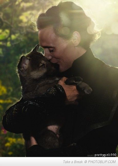 Tom Hiddleston With A Puppy. my heart melts
