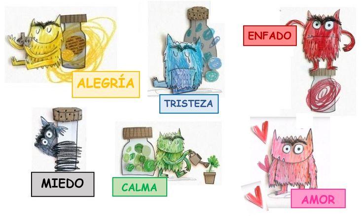 ¿Cómo son las EMOCIONES? ¿Tienen color? ¡¡¡Sí, las emociones tienen color!!!  AMARILLA es la ALEGRÍA  AZUL es la TRISTEZA  ROJO es el ENFA...