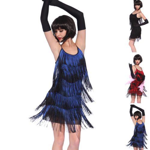 Vintage Década De 1920 Gatsby Look Melindrosa Swing Franja coquetel festa vestido de noite