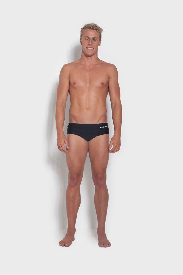 Engine - Swimwear Club Cut Classic-Male Black