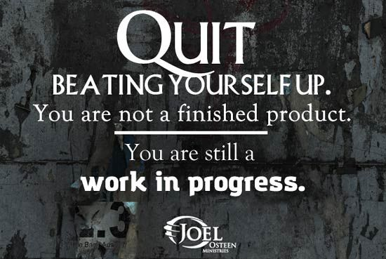 Joel Osteen Encouragement Quotes | Joel Osteen Motivation Work In Progress Picture Quote