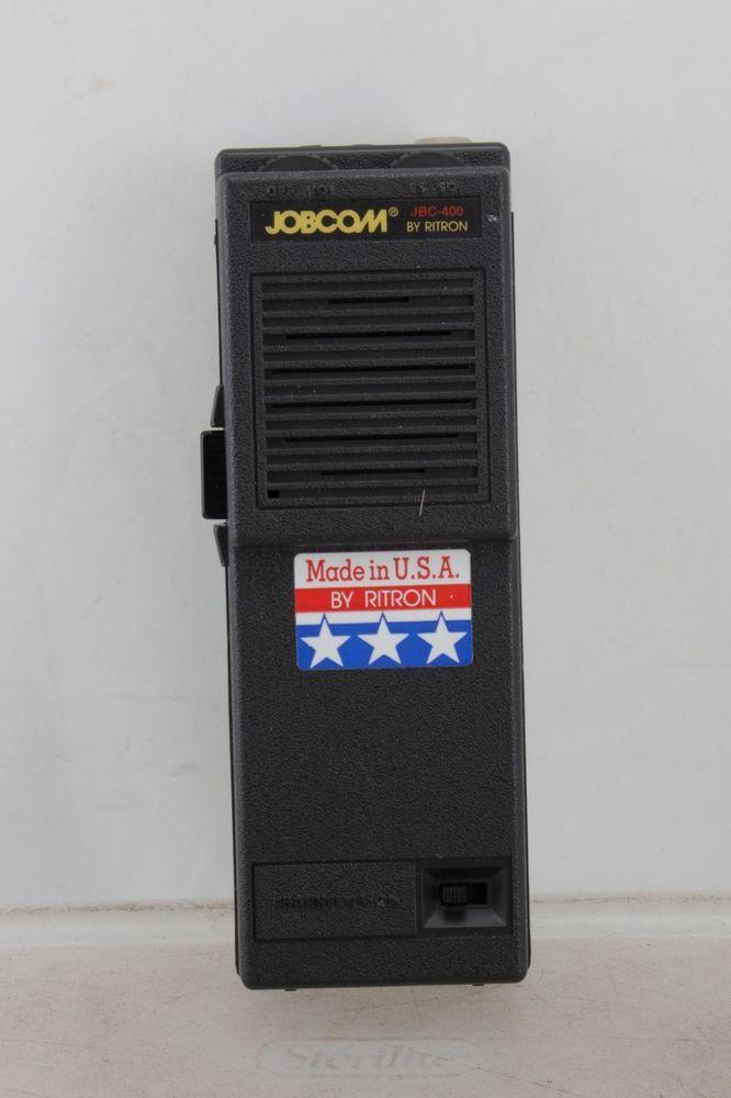 Ritron Jobcom Portable Radio Walkie Talkie 2 Channel 2-Way