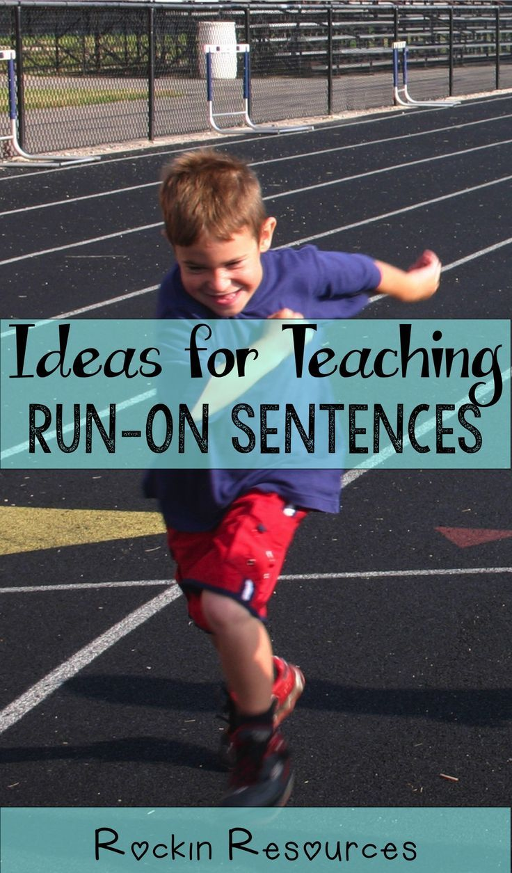 Teach students ideas for correcting run-on sentences. This is one lesson of a series of writing lessons for teachers!