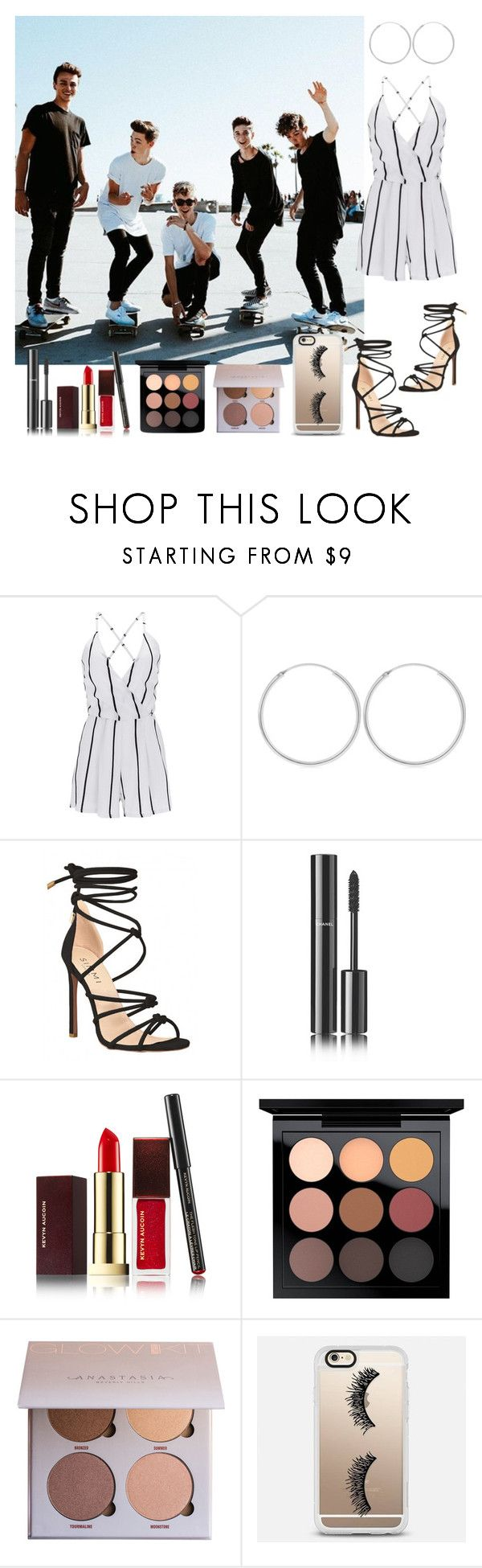 """""""Why Don't We"""" by anna-lamanilao ❤ liked on Polyvore featuring WithChic, Chanel, Kevyn Aucoin, MAC Cosmetics and Casetify"""