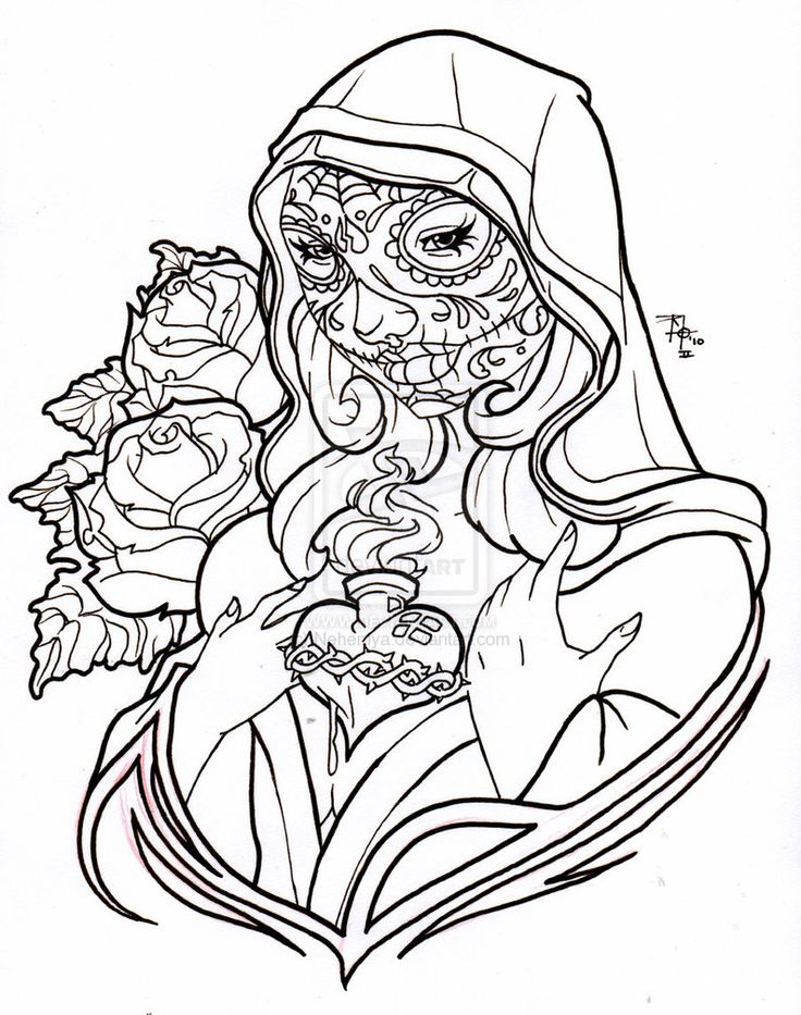 Coloring Pages For Adults Skull : 44 best coloring pages sugar skulls and other types of skulls
