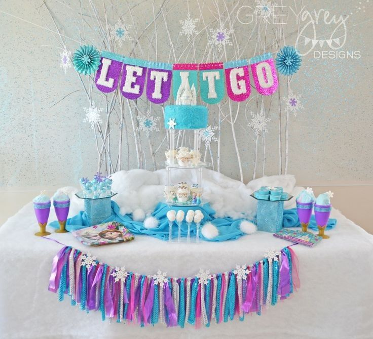 disney frozen party dessert table halloween ideas decor 2014 halloween disney - Frozen Halloween Decorations