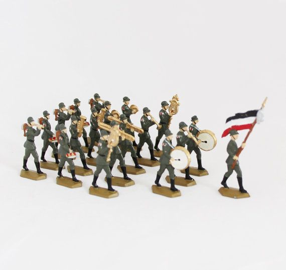 19 pcs Antique Tin Soldiers Lead Soldiers WWI Army by OldPrintLoft