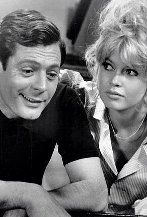 Brigitte Bardot & Marcello Mastroianni