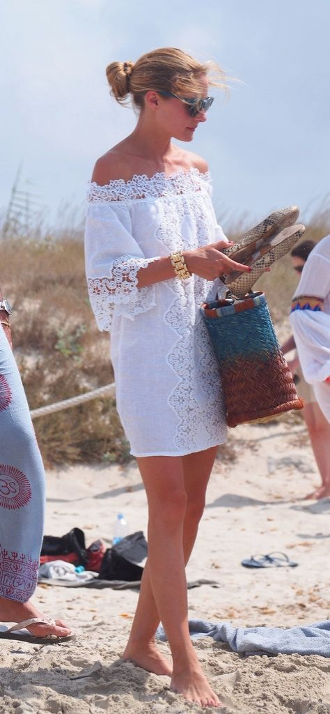 Olivia Palermo took off her Pretty Ballerinas snakeskin flats as soon as she hit the beach, though these are neutral and sturdy enough to wear on the boardwalk.