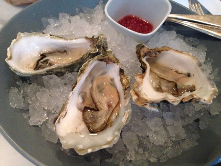 Gillardeau oysters.  Ron Gastrobar, a restaurant with one Michelin star in Amsterdam. The owner of the restaurant is the famous Dutch chef Ron Blaauw.