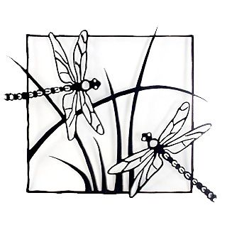 Dragonflies Steel Wall Sculpture