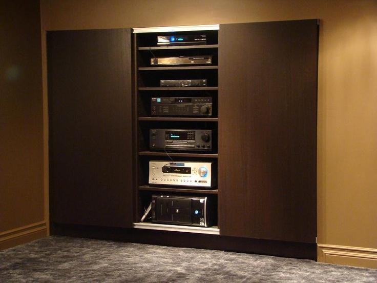 a v rack home theater inspiration pinterest. Black Bedroom Furniture Sets. Home Design Ideas
