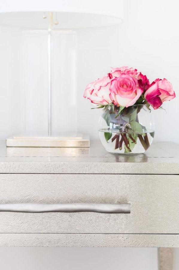 Add a pop of color with fresh blooms: http://www.stylemepretty.com/living/2016/10/18/7-designer-tips-for-renovating-a-home/ Photography: Alyssa Rosenheck - http://alyssarosenheck.com/