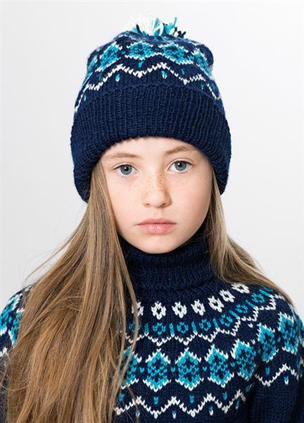 """Tema 34: Modell 12 """"trollstigen"""" genser og lue #klassiker"""