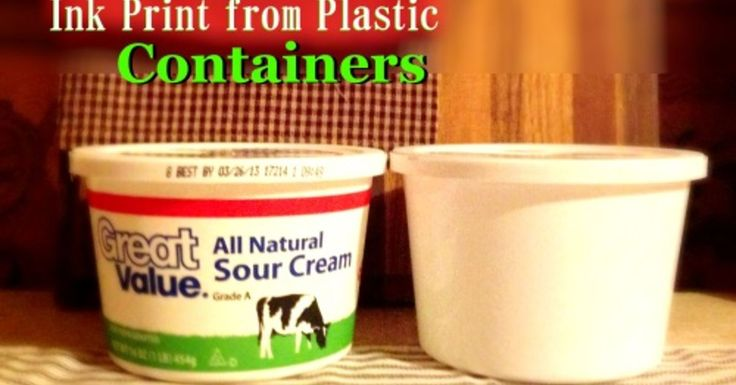If you like to reuse plastic containers, you can remove the ink from the ones you have easily. I like to take all the ink off so I have plastic tubs/lids to use…