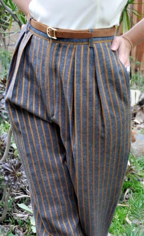 Guy Laroche High-Waist Pleat Trousers
