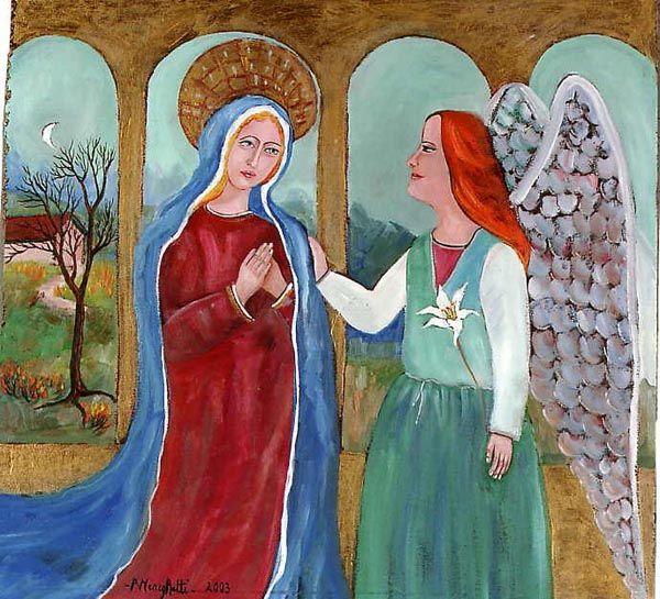 """""""Annunciazione della Vergine Maria""""  (62x62 cm)"""