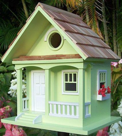 Home Bazaar Birds Of A Feather Key Lime Cottage Birdhouse Decorative Bird Houses At Songbird Garden