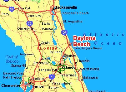 Daytona Beach Florida - Central Florida Map   Places to Go   Orlando on