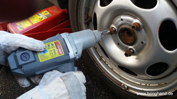 Radschrauben mit einem Schlagschrauber lösen!  Reifenwechsel  #Reifenwechsel #DIY #Selbstmachen #Reifen #Winter #Sommer #Schlagschrauber #Radschrauben