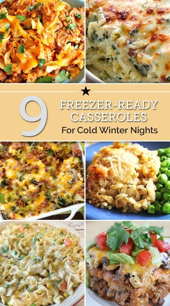 9 Freezer-Ready Casseroles for Cold Winter Nights...100's of the BEST Freezer…