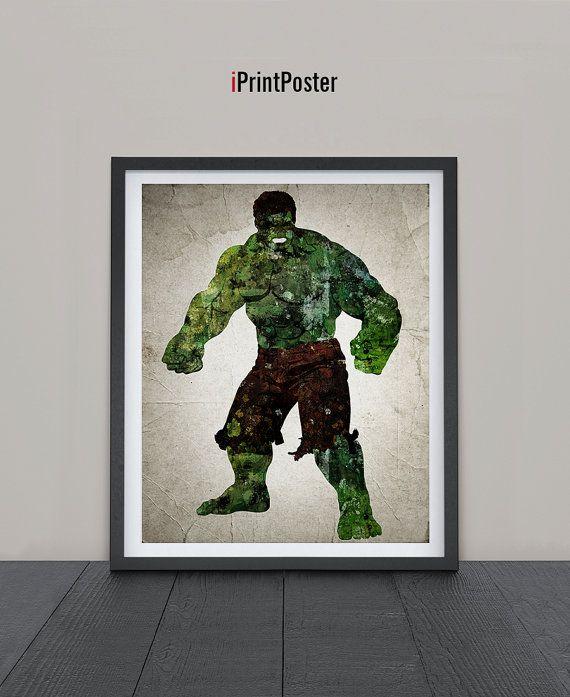 Hulk poster, The Hulk print, Superhero posters, Marvel prints, Art, Heroes Illustrations, Abstract, Wall art, Artwork, Comic poster, Gift.