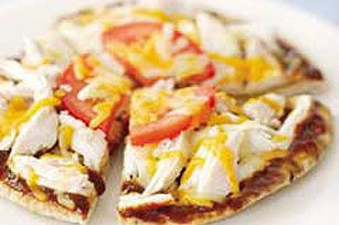 BBQ Turkey Pita recipe - this would be a good lunch and a good use up for leftover turkey or chicken