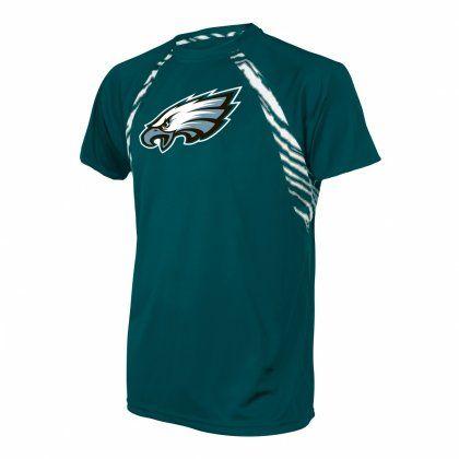 045123e8eec ... NFL Officially Licensed Philadelphia Eagles Zebra Poly T-Shirt ...