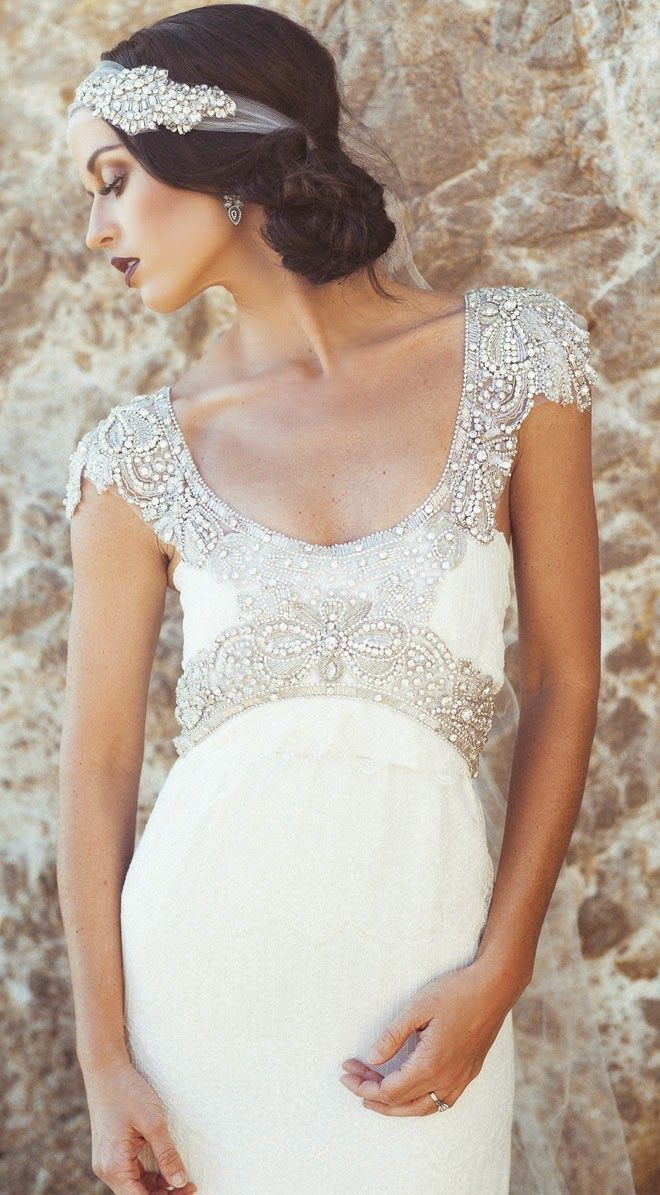 20s Inspired Wedding Dresses via Brit + Co.