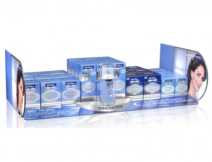 Nivea - shelf blockers, shelf stripes and product glorifier