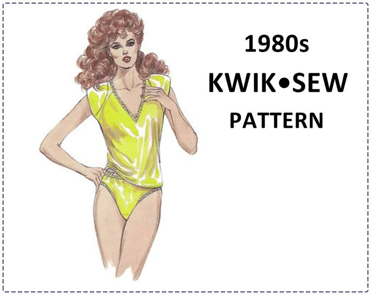 Lingerie Sewing Pattern - 1985 Kwik Sew 1484 Pattern - Camisole and Panties - Size XS S M L, Bust 32-42 - V-Neck, Lace, High Cut Leg, Raglan by EightMileVintageSews on Etsy