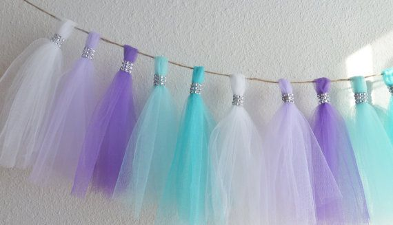 aqua teal lavender purple tulle mermaid by aprincesspractically, $49.00