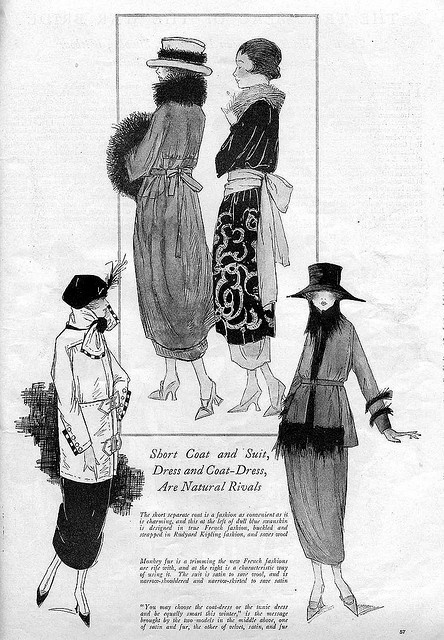 October 1918 Fashion    From the October 1918 issue of Good Housekeeping magazine.