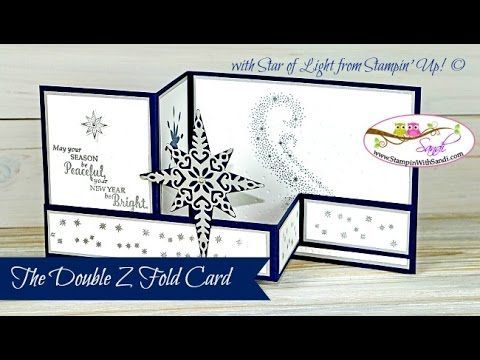 Stampin Up Video Star of Light Double Z Card - Stampin Up Card Ideas from…