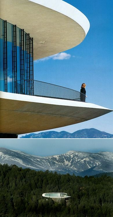 """Charles Deaton's """"Sculptured House"""", built 1963 Genesee Mountain. Colorado"""