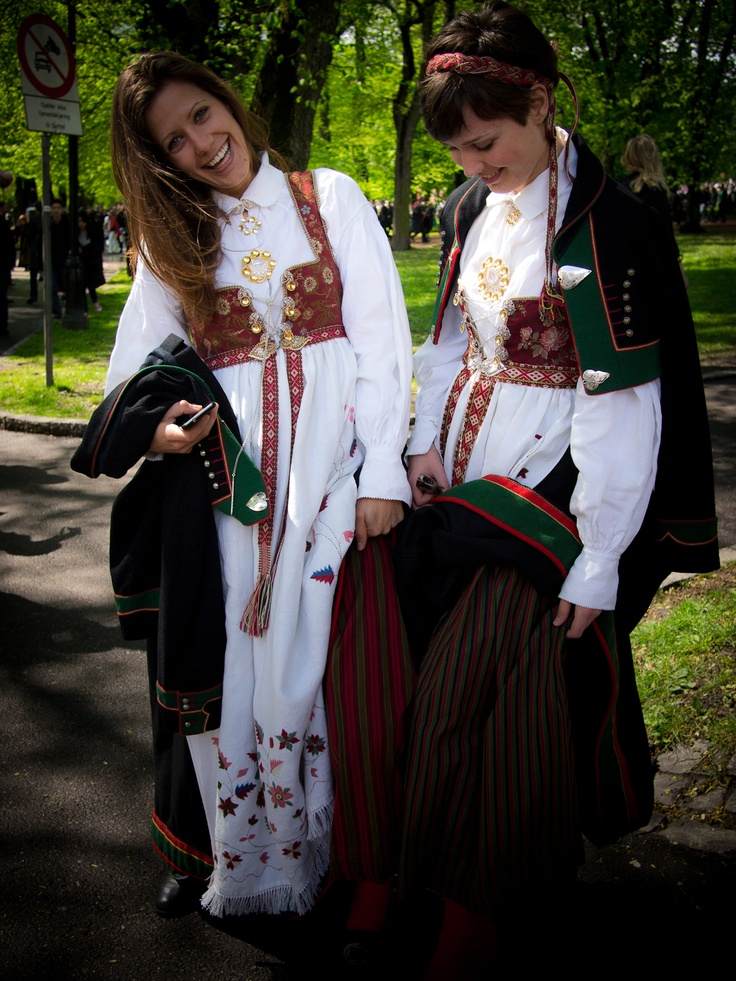 Pretty girls on 17th of may. Constitution day Norway.
