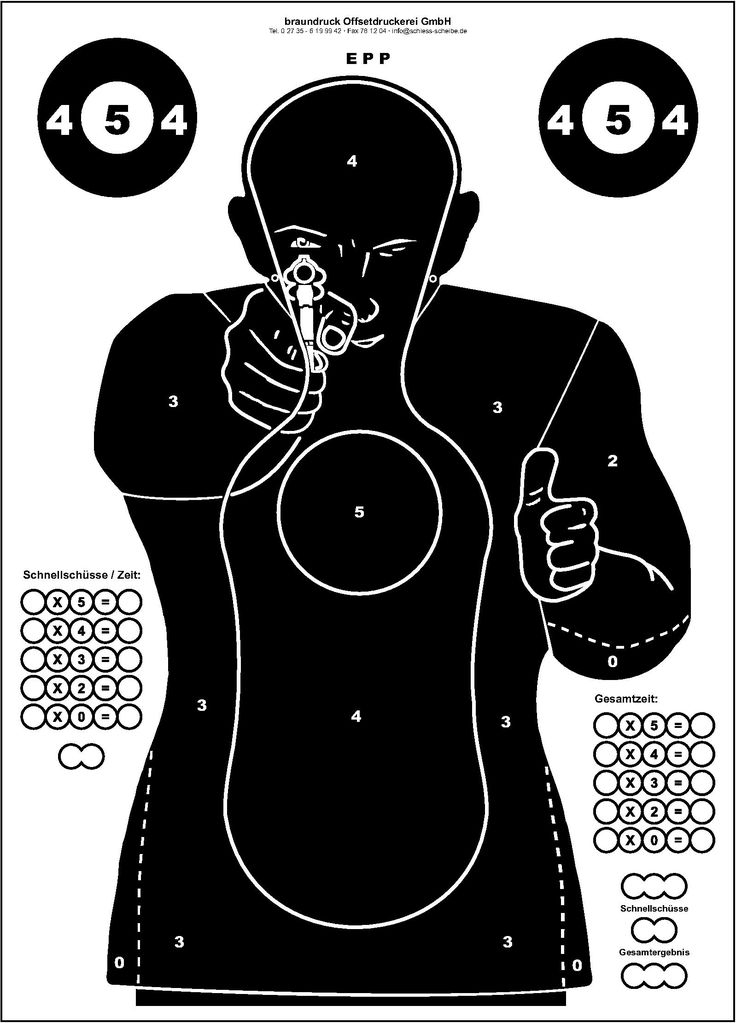 It is a picture of Declarative Nra Silhouette Targets Printable
