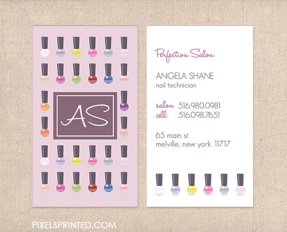 40 best nail business card images on pinterest business cards nail salon business cards nail technician business cards reheart Gallery