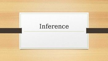 -Inference definition -Break down of definition with implicit information, prior knowledge, and textual evidence definitions  -An inference chart to use with 3 Pixar videos -Answer key to the inferences made in 3 Pixar videos -YouTube the title of the Pixar videos to find links