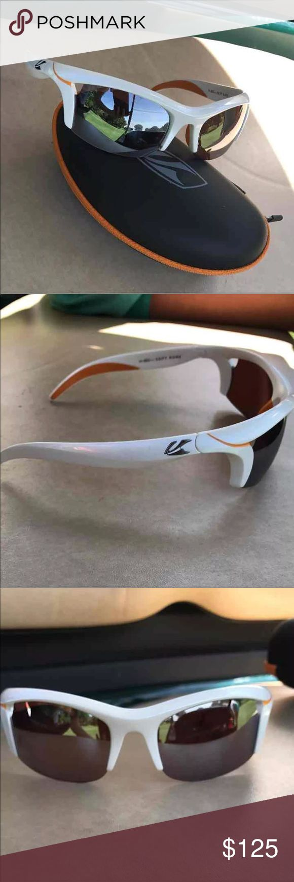 Kaenon UV Protective Sunglasses White/Orange - comes with case kaenon Accessories Sunglasses