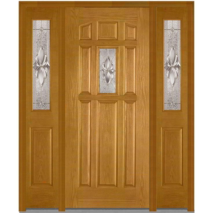 Heirloom Master Center Lite 8 Panel Plastpro Fiberglass Oak Entry Door  Stained Fruitwood By DoorBuy