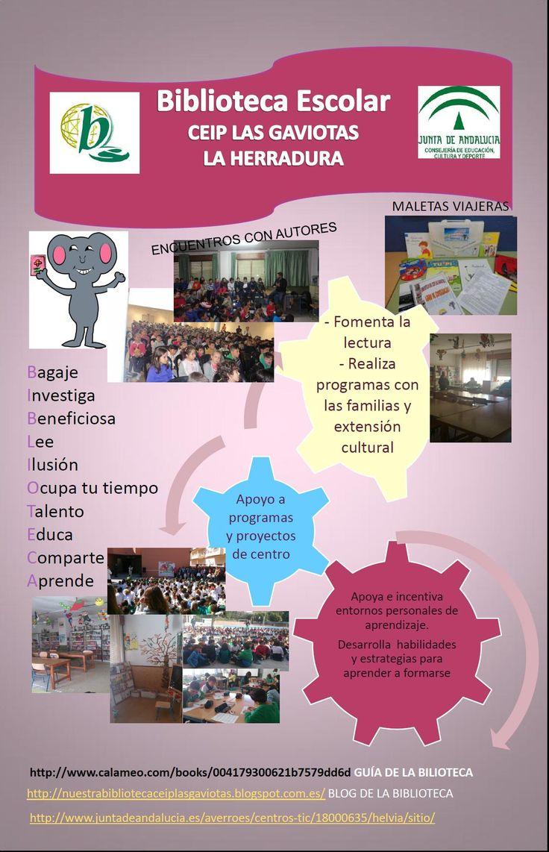 Servicios, programas y actuaciones de la biblioteca escolar del CEIP Las Gaviotas de La Herradura, vía Mari Carmen Martín